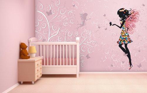 Preisvergleich Produktbild Fototapete Butterfly Fairy - weitere Größen und Materialien wählbar - DEUTSCHE PROFI QUALITÄT von Trendwände