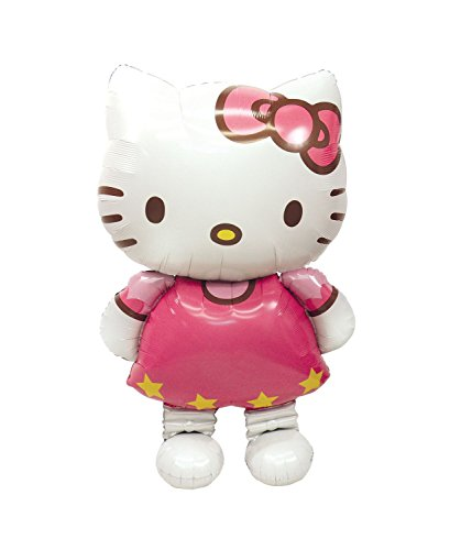 Anagrama 2347663 - Foil Air Balloon Walker - Hello Kitty, alrededor de 76 x 127 cm