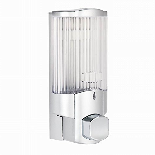 VERSACE DUNN Wand montiert Seifenspender, Bad Dusche Liquid Seife Shampoo Gel verzichten Silberfarben B Mounted Liquid