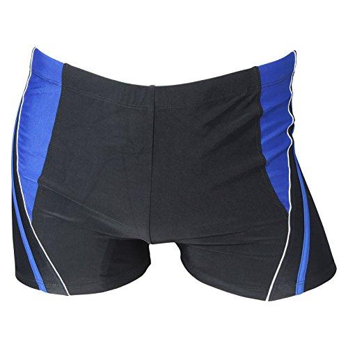 Herren Badehose Retro Badeshorts Größen M L XL 2XL ** viele Farb-Varianten ** 711 schwarz/blau