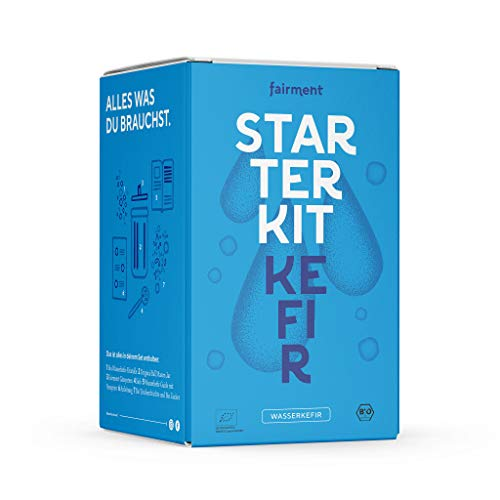 Fairment Starterkit Wasserkefir Set mit vitalen Kefir-Kristallen mit einfacher Anleitung, Rezept und Erfolgsgarantie von Fairment®