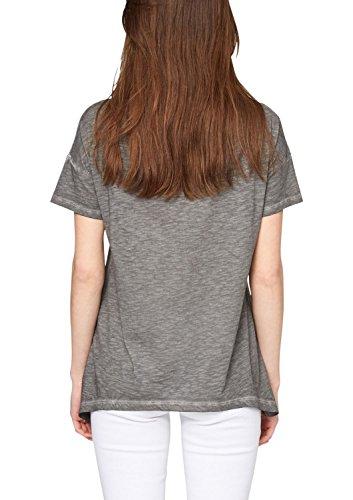 s.Oliver Denim - 41.504.32.2166, T-shirt da donna Nero (black placed print 99D0)