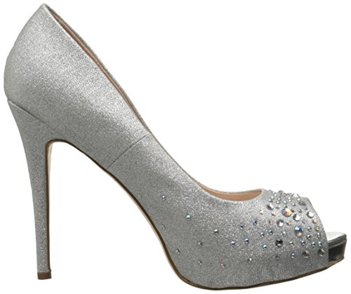 Pleaser Damen Heiress 22r Peep-Toe Silber (Slv Shimmering Fabric)