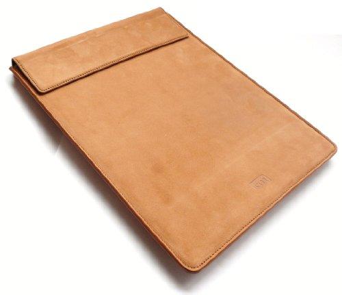 Case-Mate Premium-Tan Leder Case Tashe Hülle Für Odys Iron 9.7-Zoll-Tablet
