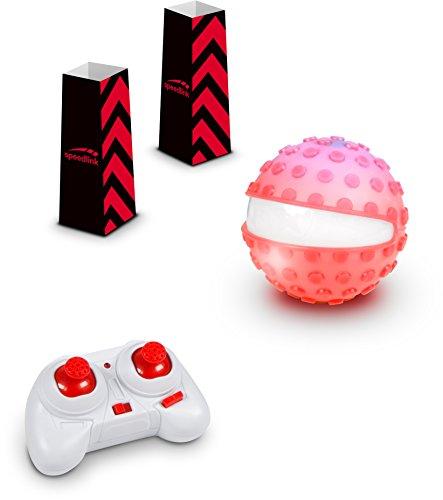 ferngesteuerter ball SPEEDLINK Ferngesteuerte Racing-Kugel - Racing Sphere Game Set RC (Silikon-Noppen-Hülle für Extra-Grip auf Sand und Erde - Richtungsanzeige durch weiße LED - Maximalgeschwindigkeit: 8km/h) Rot