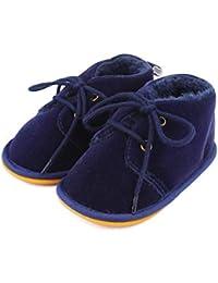 Lacofia Stivaletti invernali con suola in gomma per bambini scarpe primi passi bimba