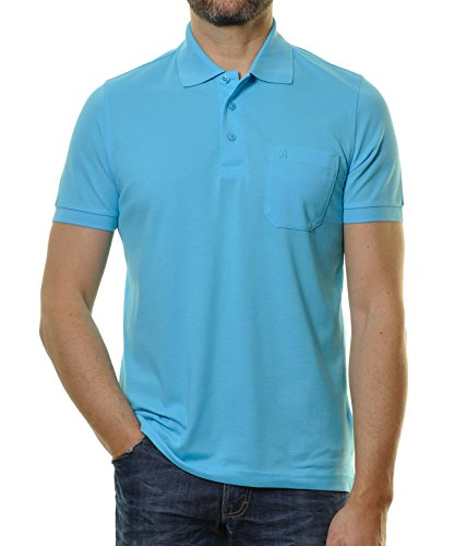 "RAGMAN Herren Poloshirt ""Pima de Lima"" Himmelblau-752"