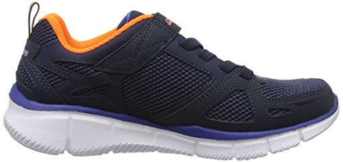 Skechers Equalizer Quick, Chaussures de Running Compétition Garçon, Bleu Bleu - Blue (Nvor)