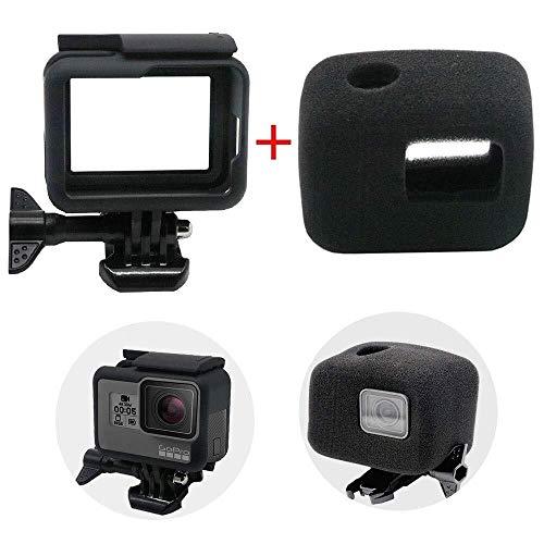 Preisvergleich Produktbild Tragbare und praktische Kameratasche Rahmenetui for GoPro Hero 7 / 6 / 5 / Hero HD (2018),  Schutzgehäuse,  Border-Shell-Zubehör und Schaumstoff mit Windgeräuschreduzierung for optimale Audioaufnahme Kamera
