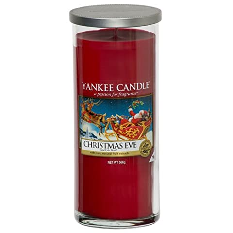 Yankee Candle Large Pillar Jar Candle, Christmas Eve