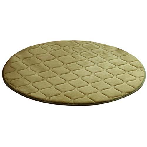 RIsxffp Weicher Teppich rund 60 cm Wohnzimmer Wohnzimmer Sofa Bett Kissen Gymnastik Dekoration Teppiche Armeegrün