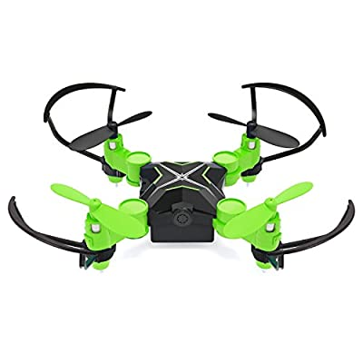 Metakoo Heliway MiNi Drone RC Quadrocopter 0.3MP Camera 2.4GHZ 4 Channel 6 Axis Gyro FPV WiFi APP Remote Control Foldable USB Charging 3D Roll Airplane
