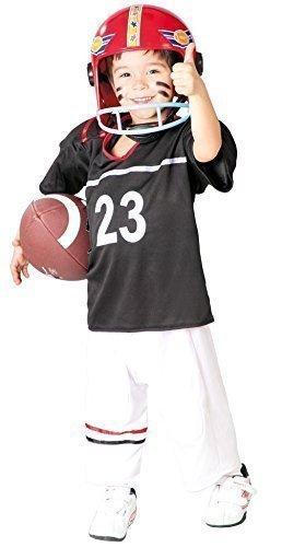 Jungen Football Quarterback Around the World Sport Kostüm Kleid Outfit 5-12 jahre - Multi, 10-12 Years