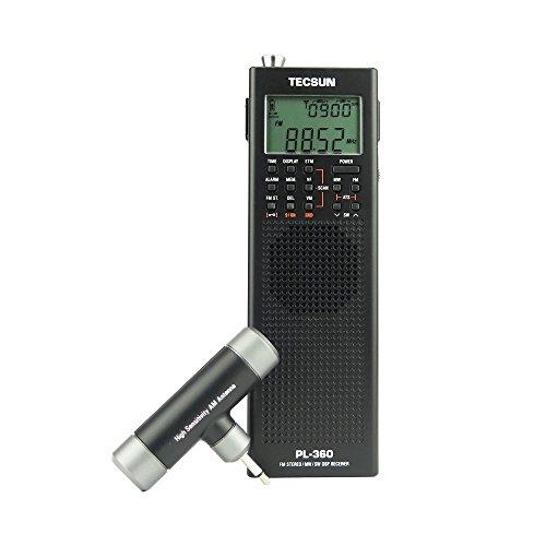 TECSUN PL-360 Radio Digital PLL Portable Radio FM Stereo/LW/SW/MW DSP Receiver (Black)