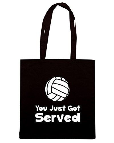T-Shirtshock - Borsa Shopping OLDENG00719 volleyball served Nero