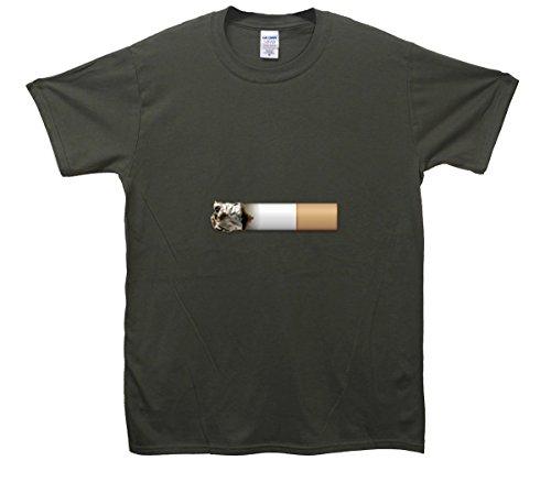 Cigarette Emoji T-Shirt Khaki