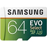 Samsung MB-ME64GA/EU EVO Select Scheda MicroSD da 64 GB, UHS-I, fino a 100 MB/s, Adattatore SD Incluso