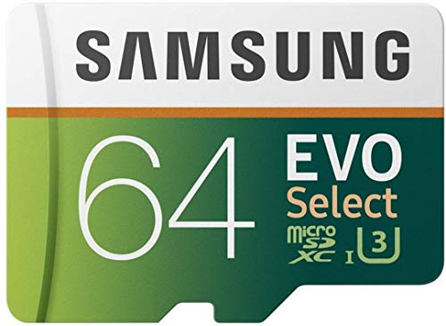 Samsung EVO Select microSDXC 64 GB Speicherkarte bis zu 100 MB/s, UHS-I U3 (inkl. SD Adapter) - Motion Tablet