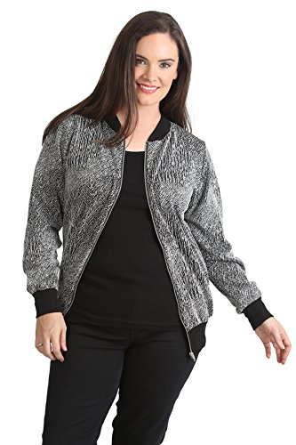 Textured Jacquard Bomber Jacket White 22-24