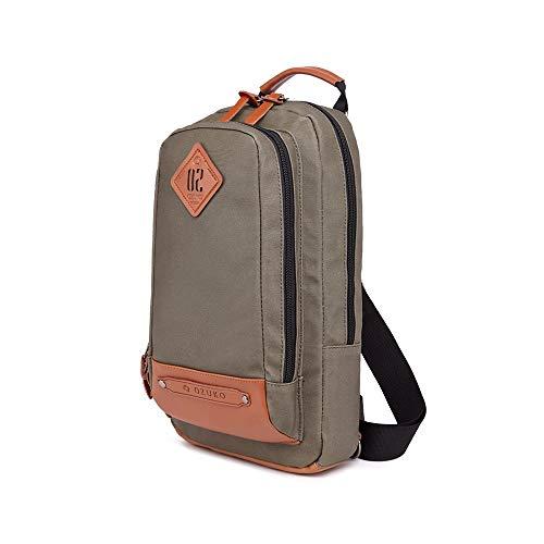 LYFEI Herren Chest Tasche Diagonal Rucksack Multi-Funktions-Schulter-diagonales Kreuz Bag Outdoor Wallte Regenschirm Aufbewahrung Herrentaschen Schulter (Farbe : Grün, Größe : M) -