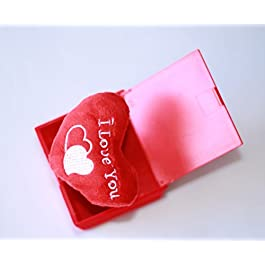 Lilone Surprise Box Pop-Up Square Shape – Red (Assorted Text Design)