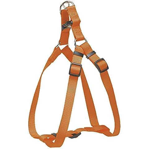 CHAPUIS SELLERIE SLA225 Pettorina regolabile per cani - Collare in nylon arancione - Larghezza 20 mm - Dimensioni 50-70 cm - Misura L