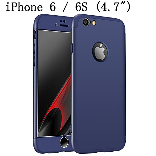 iPhone 6s Case, iPhone 6 4.7 Case, Heyqie 360 Degree Full Protection 3 in 1 Ultra Slim Anti-Scratch Shockproof Smoothly Protective Hard PC Cover Case For Apple iPhone 6 6s 4.7, Red&Black Blue