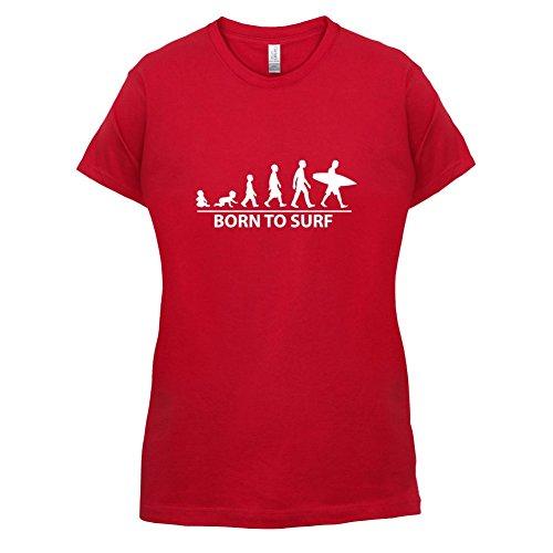 Born To Surf - Damen T-Shirt - 14 Farben Rot