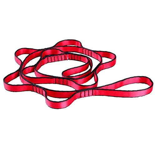 Luckiests Aerial Yoga Hammock Verlängerung Dehnen High-Strength Doppelbandkletterseil Bügel-Verband -