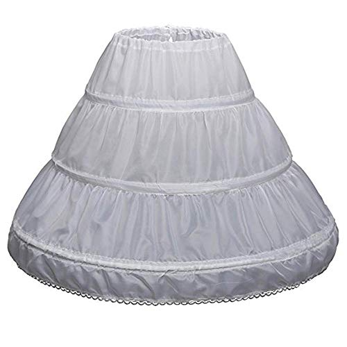 Slip Petticoat Krinoline Kostüm - Tonsee Kinder Kinder Mädchen 3 Reifen Petticoat Full Slip Blumenmädchen Krinoline Rock