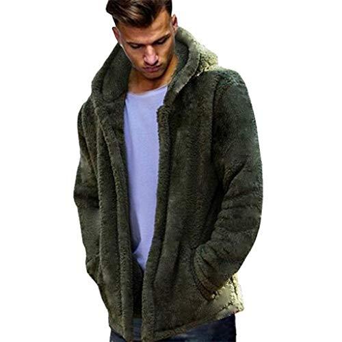 Vicgrey ❤ giacca invernale da uomo cappotto in pelliccia sintetica caldo classico felpe elegante caldo giubbini manica lunga camicia maglia inverno abbigliamento