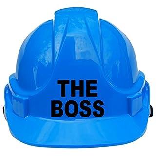 Der Boss Kinder, Kinder Echte Hard Hat Sicherheit Helm mit Kinnriemen eine Größe verstellbar geeignet für 4–12Jahren entspricht EN397Sicherheit Standard, blau