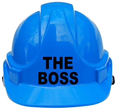 Der Boss Kinder, Kinder Echte Hard Hat Sicherheit Helm mit Kinnriemen eine Größe verstellbar geeignet für 4-12Jahren entspricht EN397Sicherheit Standard, blau