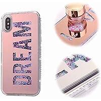 iPhone X Funda Carcasa, MingKun Espejo Dream Cover para iPhone X/iPhone 10 5.8 Pulgada Fundas Bling Caso Flexible Case Cover Bumper
