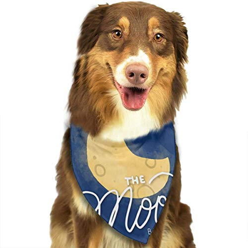 Sdltkhy Colorful Galaxy Space Moon Star Pet Bandana Washable Reversible Triangle Bibs Scarf - Kerchief for Small/Medium/Large Dogs & Cats -