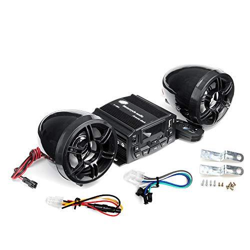 Preisvergleich Produktbild JenNiFer 12V Motorcycle Audio Sound System Fernbedienung Lautsprecher Suit Fm Sd USB Mp3