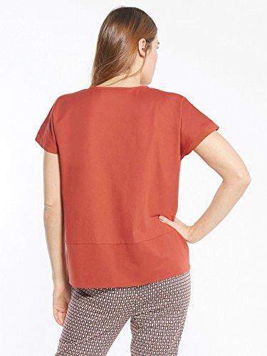 Balsamik - Tee-shirt court, stature - d'1,60m - femme Terracotta