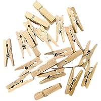 40 pezzi Mollette in legno naturale, 3,5 centimetri, confettata, avana, mollettine, bomboniere, segnaposto, regali