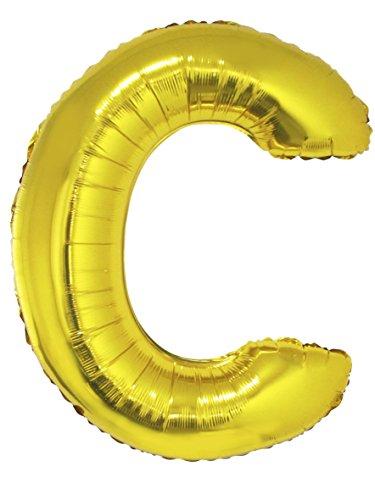 Globo aluminio gigante letra C dorado 1 m