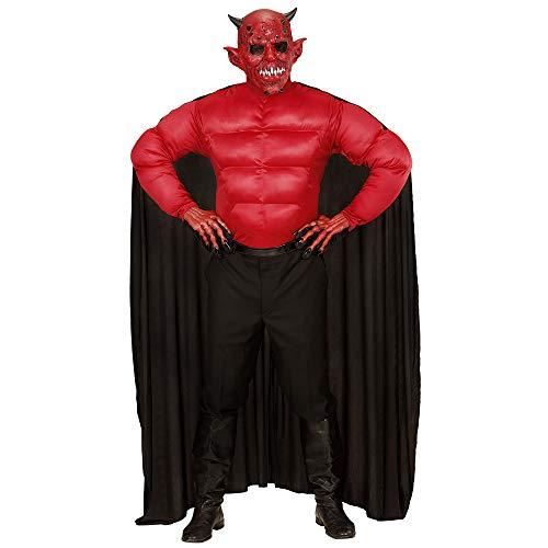 Widmann 00633 - Erwachsenenkostüm Teufel, Muskelshirt mit Umhang, Größe L, (Der Engel Des Todes Kostüm)