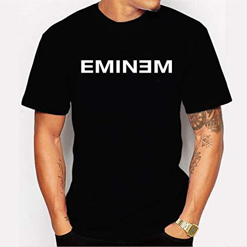 INSTO T-Shirt Rapper Eminem T-Shirt Mit Brief-Print Lässiges Herren-T-Shirt,A2,XXXL -
