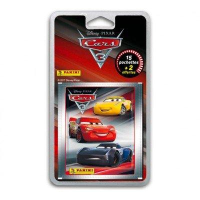Panini - Cars 3 - Stickers - Blister 15 Pochettes + 2 Pochettes Offertes