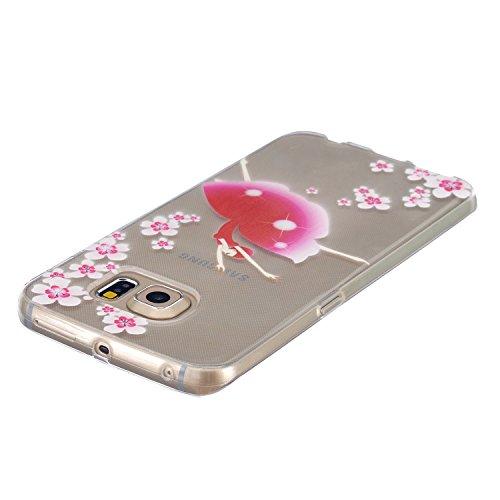 Coque Housse Etui pour Apple iPhone 6 / 6s, iPhone 6s Coque Etui en Silicone, iPhone 6 Silicone Coque Slim Soft Etui Housse, iPhone 6 / 6s Plus Silicone Case TPU Protective Cover, Ukayfe Etui de Prote Danse Fleur