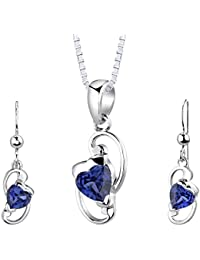 Hearty Blue Diamonte Necklace And Earrings Set With A Long Standing Reputation Fashion Jewelry