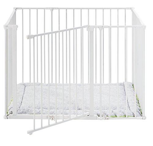BabyDan, Cancelletto di sicurezza per bambini, Made in Denmark, modello Square Park a Kid, Bianco (Weiß), 72 x 105 cm
