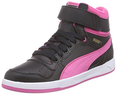 Puma Puma Liza Mid Fur Jr, Mädchen Hohe Sneakers, Mehrfarbig (black-carmine rose 01), 39 EU (6 Kinder UK)