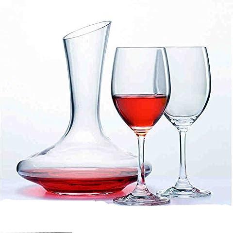 Piombo - libero di cristallo di vetro di vino con bicchiere di vino Grande Vino Decanter Wine Glass Goblet rosso set di vino ( colore : B. )