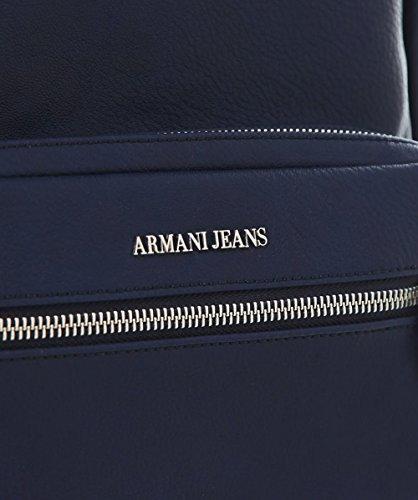 Armani Jeans Hommes Sac à dos en faux cuir Bleu Bleu