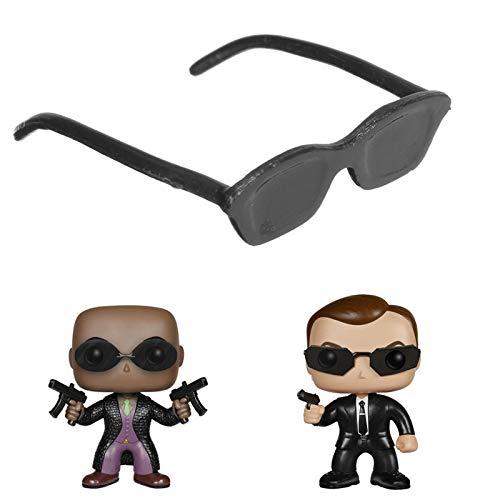 Global Brands Online 1/6 Skala Schwarz Farbe Metall Sonnenbrille Für Matrix Neo Custume Figur Verwendung
