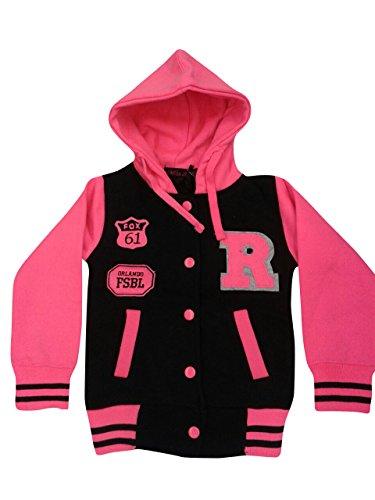 Giacca da donna CBKTTRADE Old School College Jacket giacca felpa con cappuccio Boxusa Fox Fox Schwarz Pink